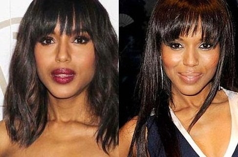 Kerry Washington before and after nose job