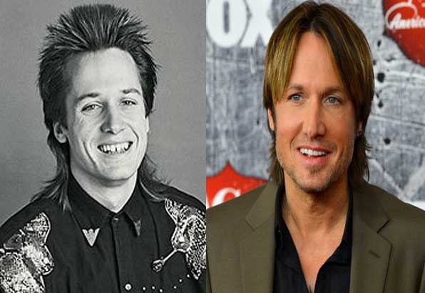 Keith Urban then and now